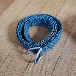 LLBean cotton plaid belt, M/L